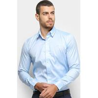 Camisa Social Lacoste Masculina - Masculino-Azul Claro
