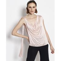 36d1a6b558 Blusa Lisa Com Drapeado - Rosa Claroversace