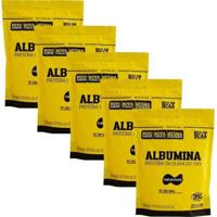 Kit 5 Albumina - 500G Refil - Naturovos - Unissex-Morango