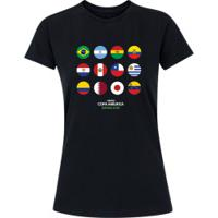 Camiseta Adams Básica Futebol - Feminina - Preto - Bandeiras Copa América 2019 - Preto