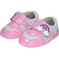Sapatinho Unicórnio Sapatinhos Baby Rosa E Branco
