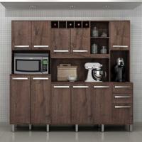 Cozinha Compacta Petra 11 Pt 2 Gv Castanho