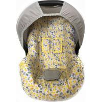 Capa Para Bebê Conforto Pássaro Alan Pierre Baby 0 A 13 Kg Amarelo