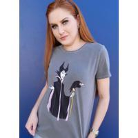 Blusa T-Shirt Em Malha Estonada Preto
