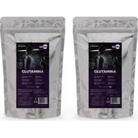 Kit 2 Unidades Glutamina Pura 1 Kg L-Glutamina Gelvitta - Unissex