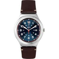 0052b67bc05 Relógio Swatch Masculino Couro Marrom - Yws440