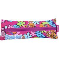Estojo Infantil Escolar Xeryus Scooby-Doo Teen - Feminino-Rosa