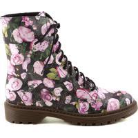 Coturno Floral- Preta & Rosa Claroschutz