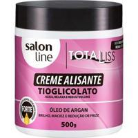 Creme Alisante Salon Line - Argan Oil Forte - 500G - Unissex-Incolor