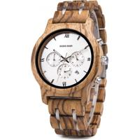 Relógio De Madeira Dododeer-B12 Fundo Prata