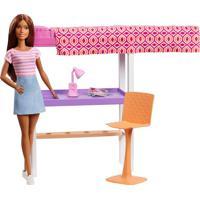 Barbie Móvel Com Boneca - Home Office - Mattel Mattel