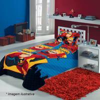Colcha Os Incríveis® Solteiro- Azul & Vermelha- 150Xlepper
