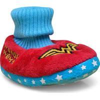 Pantufa Fem Infantil Ricsen 13399 Bebe Mulher Maravilha Vermelho/Azul