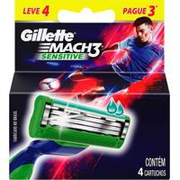 Carga Gillette Mach3 Sensitive Leve 4 Pague 3