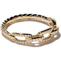 David Yurman Bracelete 'Stax' De Ouro 18K Com Diamantes - 88Adi