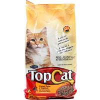 Ração Para Gatos Top Cat Sabor Carne, Peixe E Vegetais Com 1Kg