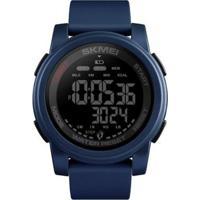 Relógio Pedômetro Skmei Digital Masculino - Masculino-Azul+Preto