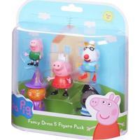 Conjunto De 5 Figuras - Amigos Da Peppa Pig - Dtc - Unissex-Incolor