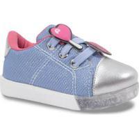 Tênis Bebê Pampili Com Patches Feminino - Feminino-Azul