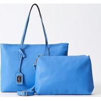 Bolsa Ombro Saffiano 2 Em 1 Le Postiche Feminina - Feminino-Azul