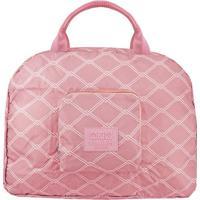 Bolsa De Viagem Dobrável- Rosa & Branca- 41X35X16Cmjacki Design