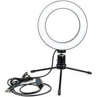 Iluminador Led Ring Light Md9, 10´ + Suporte Tripé - 9207
