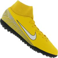 556c6425bf Chuteira Society Nike Mercurial Superfly X 6 Club Neymar Jr. Tf - Adulto -  Amarelo