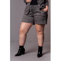 Shorts Tweed Plus Size