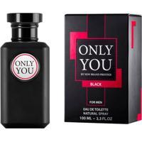 Prestige Only You Black For Men New Brand - Perfume Masculino Eau De Toilette 100Ml - Masculino-Incolor