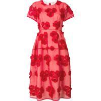 P.A.R.O.S.H. Vestido Floral - Vermelho