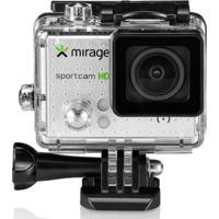 Câmera De Ação Mirage Sport Hd Mr3000 Prata