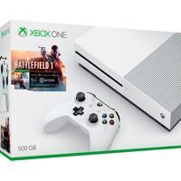Console Xbox One S 500Gb Branco Bundle Jogo Battlefield 1