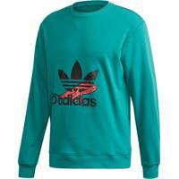 Blusão Adidas Sweatshirt Originals Verde