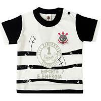 Camiseta Manga Curta Bebê Menino Esporte É Energia Corinthians b89af53db052b