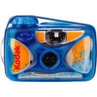 Câmera Fotográfica Aquática Descartável Amarelo E Azul Kodak
