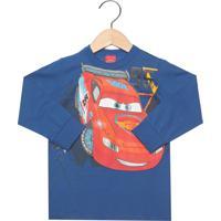 Blusa Malwee Carros Infantil Azul