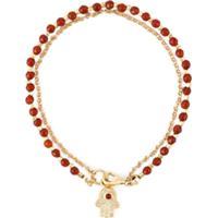 Astley Clarke Pulseira De Ouro 18K Com Ágata E Diamantes - Vermelho