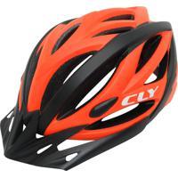 Capacete Cly In Mold Mtb/Urbano Ciclismo G Preto/Laranja