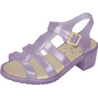 Sandália Flib Infantil Aranha Salto Plástico Violeta