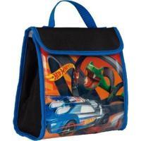 Lancheira Infantil Hot Wheels 19 Super Mass - Masculino-Preto