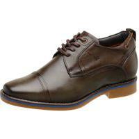 Sapato Rafarillo Masculino Aumenta Altura 7Cm Couro 54005 Grafite