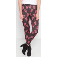 Legging Floral - Preta & Rosa- My Favorite Thingsmy Favorite Things