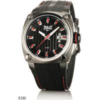 0f70d117d40 Netshoes  Relógio Pulso Everlast Caixa Aço E Pulseira Couro E132 -  Masculino-Preto