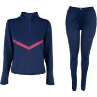 Agasalho Oxer Reino Unido - Feminino - Azul Escuro