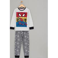 Pijama Infantil Algodão Com Estampa Homem Aranha - Tam 2 A 14
