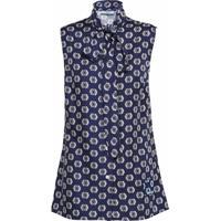 Prada Blusa Sem Mangas Com Estampa - Azul