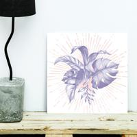 Placa Decorativa - Tropical Purple