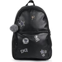 Mochila Infantil Up4You Barbie Preto