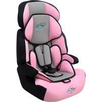 Cadeira Para Auto Cometa Rosa E Cinza - Crianças De 9 A 36Kg, Cinto.