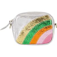 Bolsa Tiracolo Infantil Com Glitter Prata -